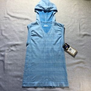 ASICS blue hooded seamless tank size M/L